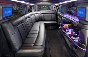 Limo interior, no compromise on luxury