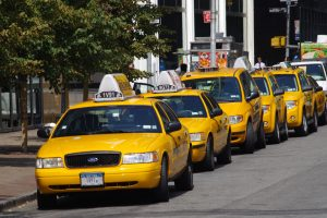 Wait for a taxi cab or...